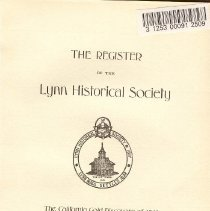 Image of F 74 L98 L98 Vol. 23, Part 3 - Proceedings for the first meeting of the Lynn Historical Society.  
