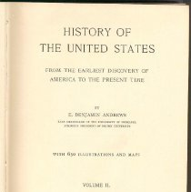 Image of E 178 A57 1926 Vol. 2 - History of the United States from 1763 to 1812.
