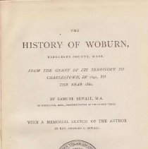 Image of F 74 W89 S5 - History of Woburn