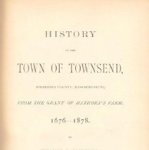 Image of F 74 T7 S2 - History of Townsend, Massachusetts.