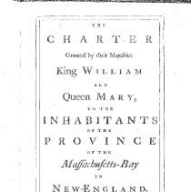 Image of Oversize KD 571 1629 - Includes Charter for the Massachusetts Colony as well as Acts and Laws passed from 1692 to 1761.
