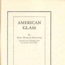 Image of NK 5112 N6 1937 - History of early glassmaking, descriptions of types of glass made and identifying it.
