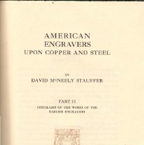 Image of NE 505 S8 Vol. 2 - Alphabetical list of approximately seven hundred American printers, listing all known works to date.
