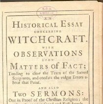 Image of BF 1565 H87 - Essays on witchcraft and its history.