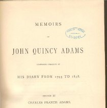 Image of E 377 A19 Vol. 7 - Adams life from May 1825 to May 1828.  His Presidency continued.