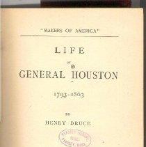 Image of E 176 M23 - Biography of Sam Houston