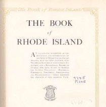 Image of F 79 R49 - Promotional book on history and businesses of Rhode Island.