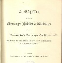 Image of First Title page