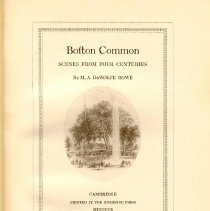 Image of F 73.65 H85 - History of Boston Common from beginning to early 20th century.
