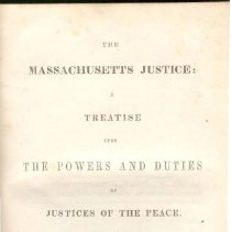 Image of KFM 2920 D - Summary of duties of Massachusetts Justice of the Peace in 1847.