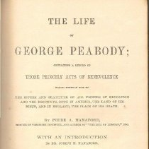 Image of HV 28 P4 H2 1870 c.5 - Life of George Peabody