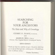 Image of CS 16 D6 1980 - Searching For Your Ancestors: The How And Why Of Genealogy
