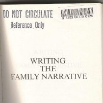 Image of CS 14 G66 1987 - Writing The Family Narrative