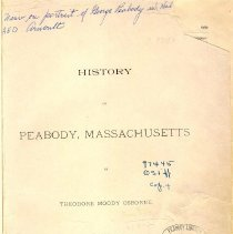 Image of F 74 P35 H87 c.2 - As stated in title, this is history written for larger publication, the History of Essex County.