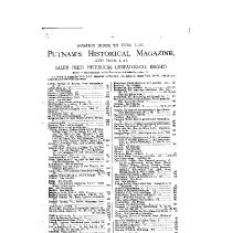Image of F 3 G4 1990 v.2 - Reprints of The Salem Press Historical and Genealogical Record and Putnam's Monthly Historical Magazine which were later combined and bound under the title, Genealogical Quarterly Magazine.