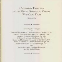 Image of CS 71 C95773 - A detailed genealogy of the Crummer family, including some biographies of family members.