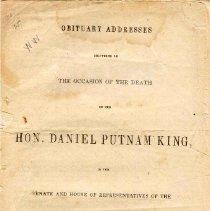 Image of F 69 K54 - Addresses given in memory of Daniel Putnam King