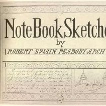 """Image of NC 139 P33 A4 1873 - Architects sketches from 1869 to 1870.  These sketches were made mostly during the winter of '69-70 [evidently during the course of a European tour] not with any idea of printing them but as a student's notes. The heliotypes have been made from the original drawings ..."""" Author's note reproduced on t.p. is dated Boston, Dec. 1, 1873"""