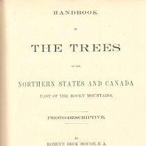 Image of QK 481 H8 - Photo-descriptive handbook of trees in eastern America.
