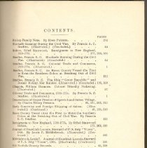 """Image of F 72 E7 E81 Vol. 63 - Proceedings for the Society for 1927. Volume includes information on """"Immigrants to New England 1700-1775;"""" Descentants of Roger Preston of Itswich and Salem Village;"""" and """"Prisoners of War from Massachusetts, 1812-1815"""" among other articles."""