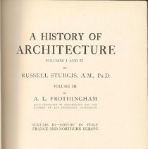 Image of NA 200 S8 Vol. 3 - History of Gothic Architecture in Italy, France and Northern Europe.