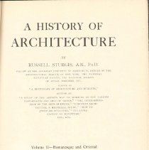 Image of NA 200 S8 Vol. 2 - History of Romanesque and Oriental architecture in Asia, Japan, Persia, Moslem architecture and later Romanesque in Italy, France, Britain, Germany, Spain, Scandinavia, Armenia and South-eastern Europe.