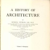 Image of NA 200 S8 Vol. 1 - History of ancient architecture in Greece, Egypt, Western Asia and Italy.
