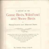 Image of QL 684 M4 F7 - History of birds of Massachusetts and neighboring states, including any extinct at the time and suggested methods of conservation for the future.