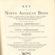 Image of QL 681 C85 1903 Vol. 2 - Descriptions of North American birds including known fossils