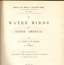 Image of QL 681 B18 Vol. 2 - Detailed descriptions of the water birds of North America, including when first seen, who discovered them and anecdotes of behavior observed.