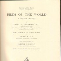 Image of QL 673 K7 - Description of birds by type and habitat.