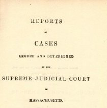 Image of KFM 2445 A19 1847 - Cases reported that were tried in Massachusetts Supreme Court