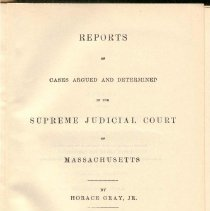 Image of KFM 2445 A19 1859-60 - Cases reported that were tried in Massachusetts Supreme Court