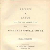 Image of KFM 2445 A19 1837-38 - Cases reported that were tried in Massachusetts Supreme Court