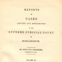 Image of KFM 2445 A19 1831-32 - Cases reported that were tried in Massachusetts Supreme Court