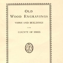 Image of F 72 E7 D7 - Reproductions of wood engravings of historic buildings in Essex County.