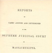 Image of KFM 2445 A19 1855-56 - Cases reported that were tried in Massachusetts Supreme Court