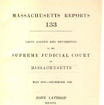 Image of KFM 2445 A19 1882-83 - Cases reported that were tried in Massachusetts Supreme Court