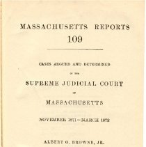 Image of KFM 2445 A19 1871-72 - Cases reported that were tried in Massachusetts Supreme Court