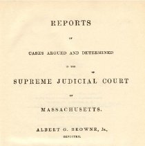 Image of KFM 2445 A19 1868 - Cases reported that were tried in Massachusetts Supreme Court