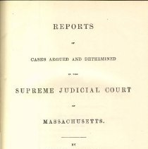 Image of KFM 2445 A19 1864-65 - Cases reported that were tried in Massachusetts Supreme Court
