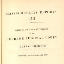 Image of KFM 2445 A19 1886-87 - Cases reported that were tried in Massachusetts Supreme Court