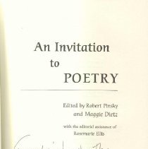 Image of PN 6101 I56 2004 - An anthology of poetry.