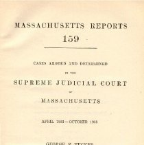 Image of KFM 2445 A19 1893-94 - Cases reported that were tried in Massachusetts Supreme Court