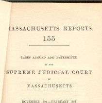 Image of KFM 2445 A19 1891-92 - Cases reported that were tried in Massachusetts Supreme Court