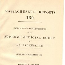 Image of KFM 2445 A19 1897-98 - Cases reported that were tried in Massachusetts Supreme Court