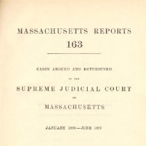 Image of KFM 2445 A19 1895 - Cases reported that were tried in Massachusetts Supreme Court