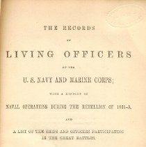 Image of E 182 H2052 - Biographical dictionary of those officers in Navy and Marines who were alive in 1870.  Arranged by rank for both services and include ships served on and battles fought in.