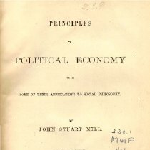 Image of HB 161 M6 1868 Vol. I - Principles of Economy