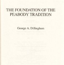 Image of LB 1960 N42 D55 1988 - History of the Peabody Education Fund and theh Peabody Normal College's early years.